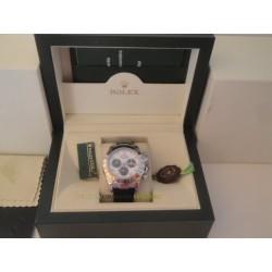 Rolex replica daytona vip dial panda strip leather orologio replica copia