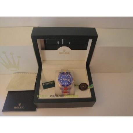 Rolex replica submariner acciaio oro blu dial orologio replica copia