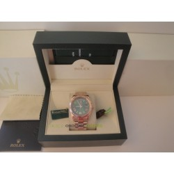 Rolex replica daydate rose gold green dial orologio replica copia