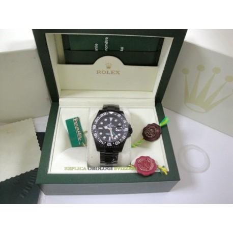 Rolex replica GMT master II ceramichon 116710LN black dial pro-hunter pvd orologio replica copia