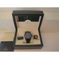 Rolex replica milgauss pro-hunter pvd green sapphire black dial orologio replica copia