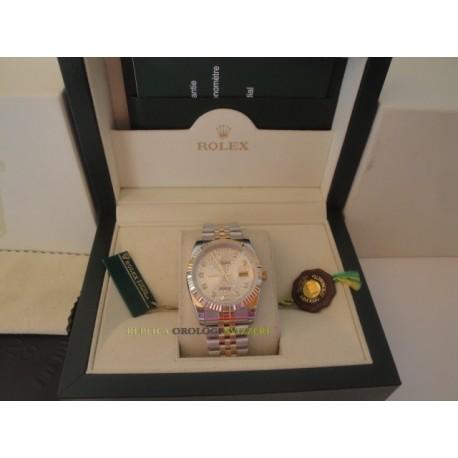 Rolex replica datejust acciaio oro white roman jubilèè orologio replica copia