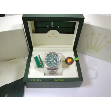 Rolex replica submariner data ceramichon hulk verde orologio replica copia