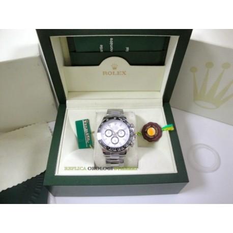 Rolex replica daytona new ceramichon white dial orologio replica copia
