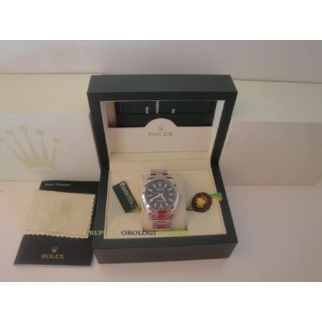 Rolex replica milgauss green sapphire black dial orologio replica copia